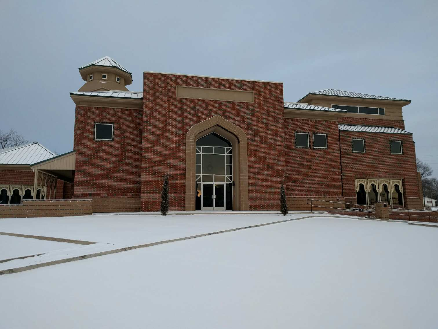 Stillwater Mosque in snow